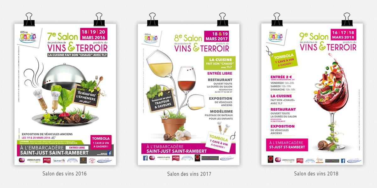 Affiches salon des vins